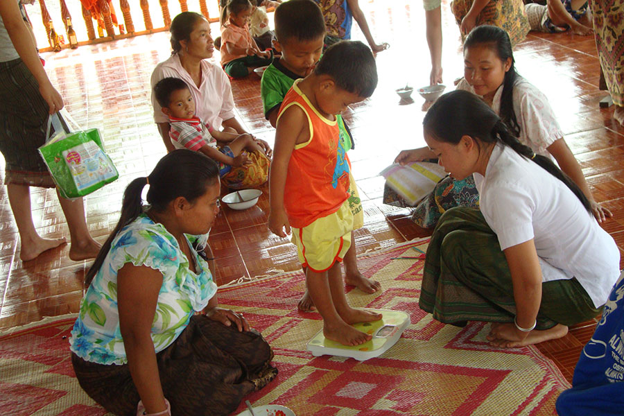 Children's health, especially of children under 5, is of high importance to all HPP Laos' projects.